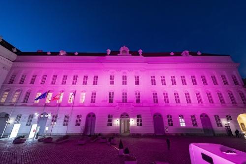 Josefsplatz lila, © Parlamentsdirektion / Michael Buchner