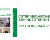 Österreichischer Behindertenrat: Positionspapier 2019