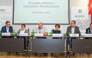 Pressekonferenz der Behindertenverbände zum Thema inklusiver Arbeitsmarkt und bessere Arbeitschancen für Menschen mit Behinderungen. Foto: Österreichischer Behindertenrat