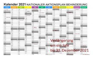Nationaler Aktionsplan Behinderung um ein Jahr bis 31. Dezember 2021 verlängert