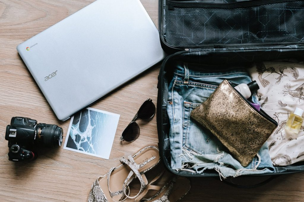 gepackter Reisekoffer