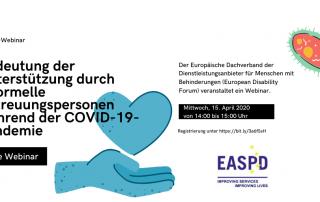 EASPD-Webinar: Unterstützung durch informelle Betreuungspersonen während Coronavirus-Pandemie