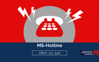 Illustration Telefon, Text: MS-Hotline 0800 311 340