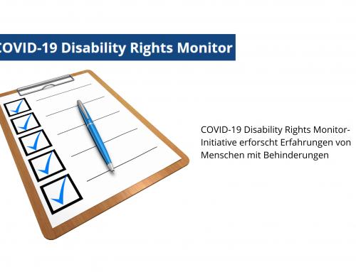COVID-19 Monitoring der Rechte von Menschen mit Behinderungen