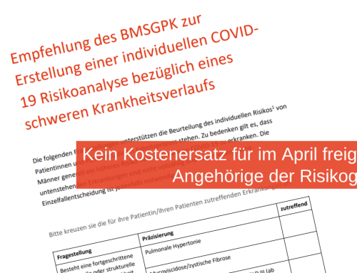 Kein Kostenersatz für im April freigestellte Angehörige der COVID-19-Risikogruppen