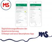 Screenshot EKO2go, Text: Digitalisierungsoffensive der Sozialversicherung: E-Rezept und neue Smartphone-App