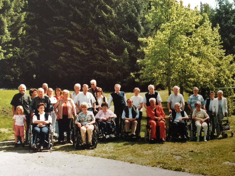 Multiple Sklerose Regionalclub Kirchdorf, ganz links Obmann Peter Grammer, Foto: privat