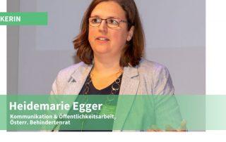 Foto: Heidemarie Egger vom Österreichischen Behindertenrat, Credit: MyAbility