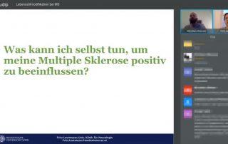 Screenshot Webinar: Lebensstilmodifikation bei Multipler Sklerose