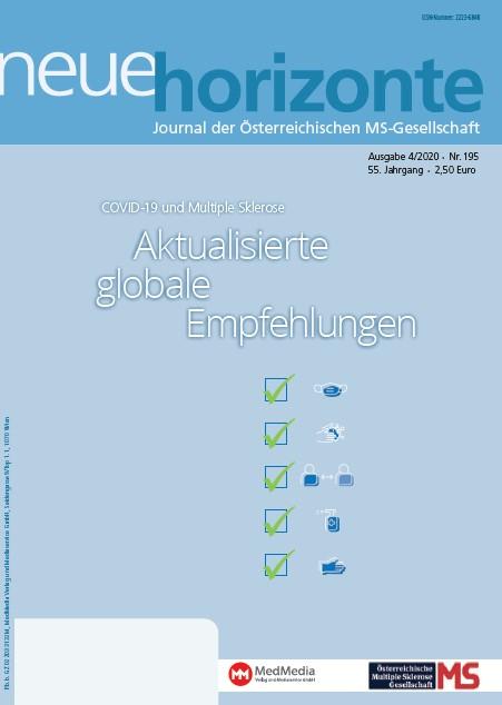 Neue Horizonte 4/2020, Journal der Österreichischen Multiple Sklerose Gesellschaft