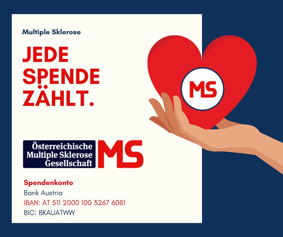 JEDE SPENDE ZÄHLT. Spendenkonto: Bank Austria IBAN: AT 5112 0001 00326 76081 BIC: BKAUATWW