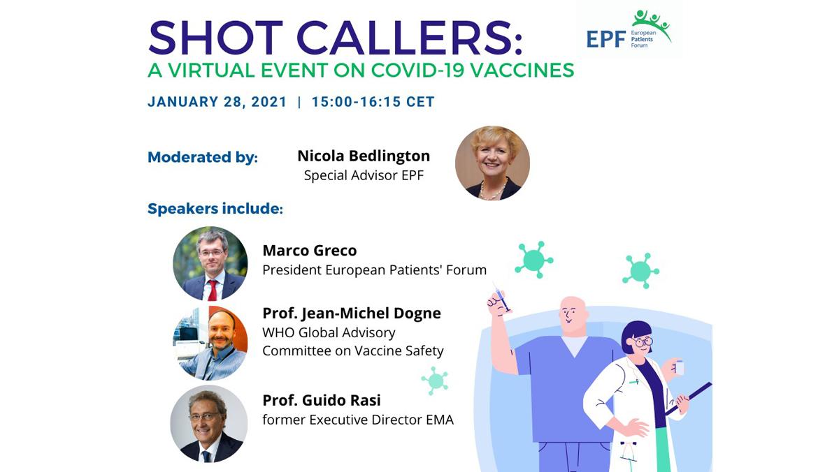 Online-Diskussion über COVID-19-Impfstoffe, Credit: European Patient´s Forum