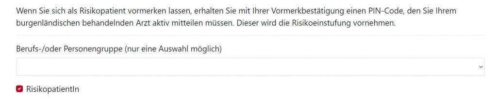 Screenshot Impf-Anmeldung Burgenland