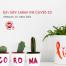"""Kakteen mit handgeschriebener Aufschrift """"Corona Life"""". Text: Workshop: Ein Jahr Leben mit CoViD-19. Credit: Canva"""
