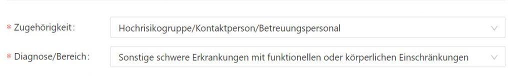 Screenshot Covid-19-Impfung in Kärnten