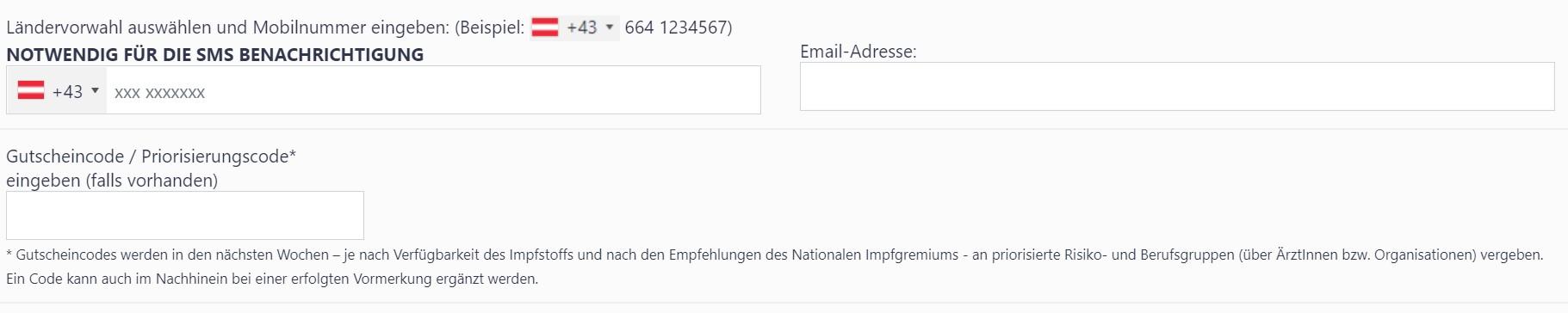Corona-Schutzimpfung Vormerkung Vorarlberg
