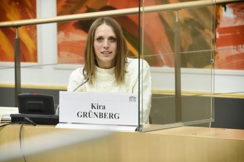Nationalratsabgeordnete Kira Grünberg (ÖVP). © Parlamentsdirektion / Johannes Zinner