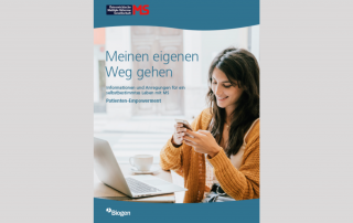 Meinen eigenen Weg gehen. Informationen und Anregungen für ein selbstbestimmtes Leben mit Multipler Sklerose. Verfasst von Mag. Julia Asimakis und Mag. Kerstin Huber-Eibl im Februar 2021
