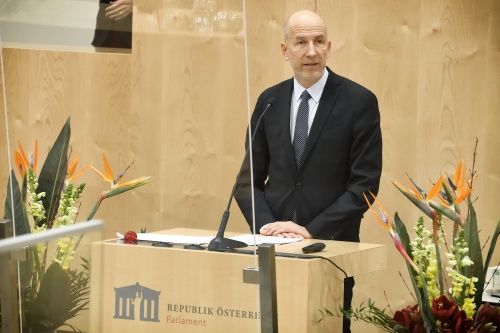 Keynote von Arbeitsminister Martin Kocher. © Parlamentsdirektion / Johannes Zinner