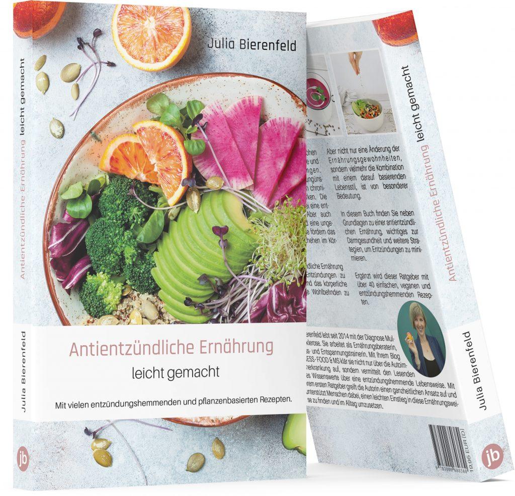 """Das Softcover-Buch """"Antientzündliche Ernährung leicht gemacht"""" ist im Buchhandel erhältlich. ISBN 978-3-00-068038-0, EUR 19,95"""