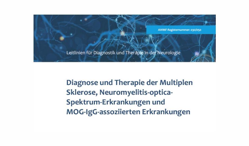 aktualisierte und erweiterte S2k-Leitlinie der DGN zur Diagnostik und Therapie der Multiplen Sklerose (MS), Credit: Deutsche Gesellscahft für Neurologie