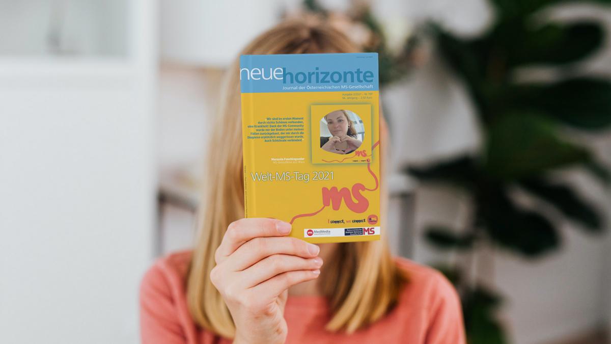 Neue Horizonte 2/2021, Ausgabe Nummer 197, Medieninhaberin & Herausgeberin: Österreichische MS-Gesellschaft, Redaktion: Mag. Kerstin Huber-Eibl, Credit: Canva
