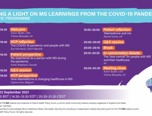 PRISMS-Webinar: Was wir bezüglich Multipler Sklerose von der COVID-19-Pandemie gelernt haben